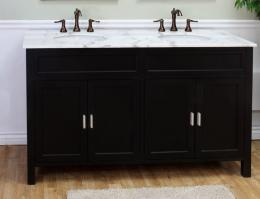 60 Inch Double Sink Bathroom Vanity with Open Shelves