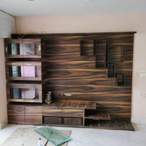 Full Wall TV & Entertainment Unit at Site