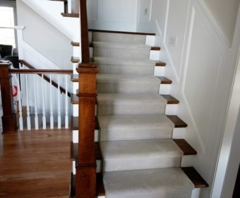 Create A Dramatic Look By Upgrading Your Stairway S Treads And | Prefinished Hardwood Stair Treads | Hand Scraped | Wood Stair | Red Oak Natural | Flooring | White Oak