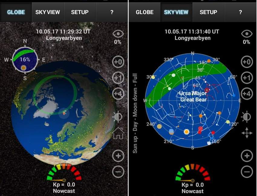 aurora forecast in 3d