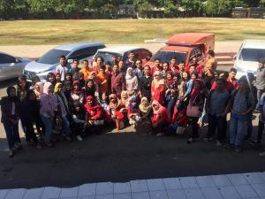Mahasiswa FH Unisbank semarang kunjungi Tim Inafis Polrestabes Semarang