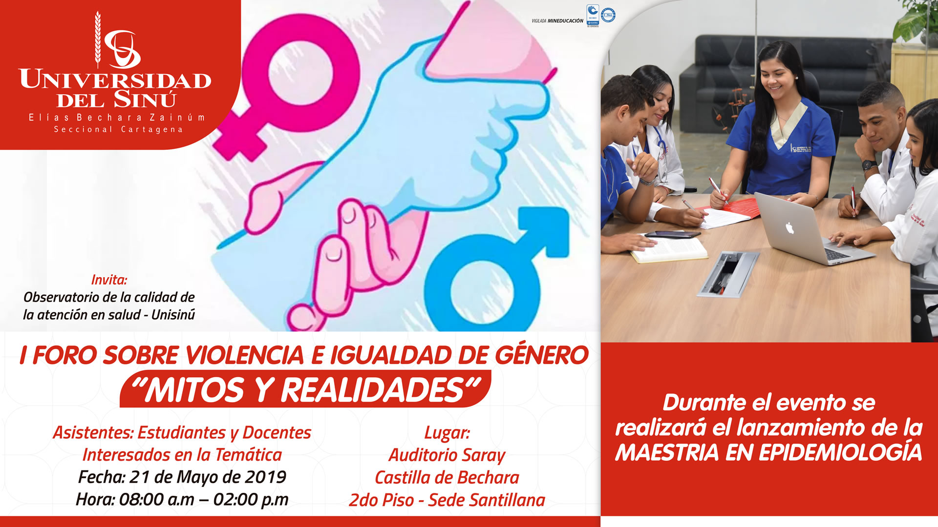 I FORO SOBRE VIOLENCIA E IGUALDAD DE GENERO MITOS Y REALIDADES