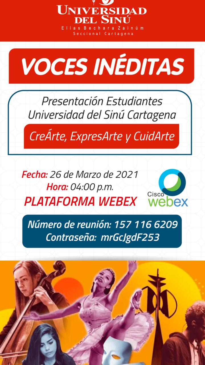 11. Voces Inéditas CreArte, ExpresArte y CuidArte 26032021