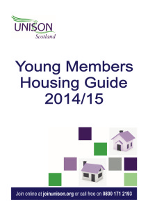 UNISON Young Members Housing Guide 2014-15