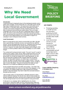 Briefing 71 - Why we need local government to deliver good health - Jan 2016