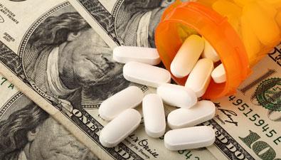 money with pills