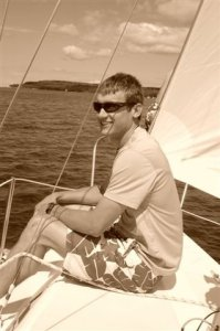 jake sailing in Wisconsin