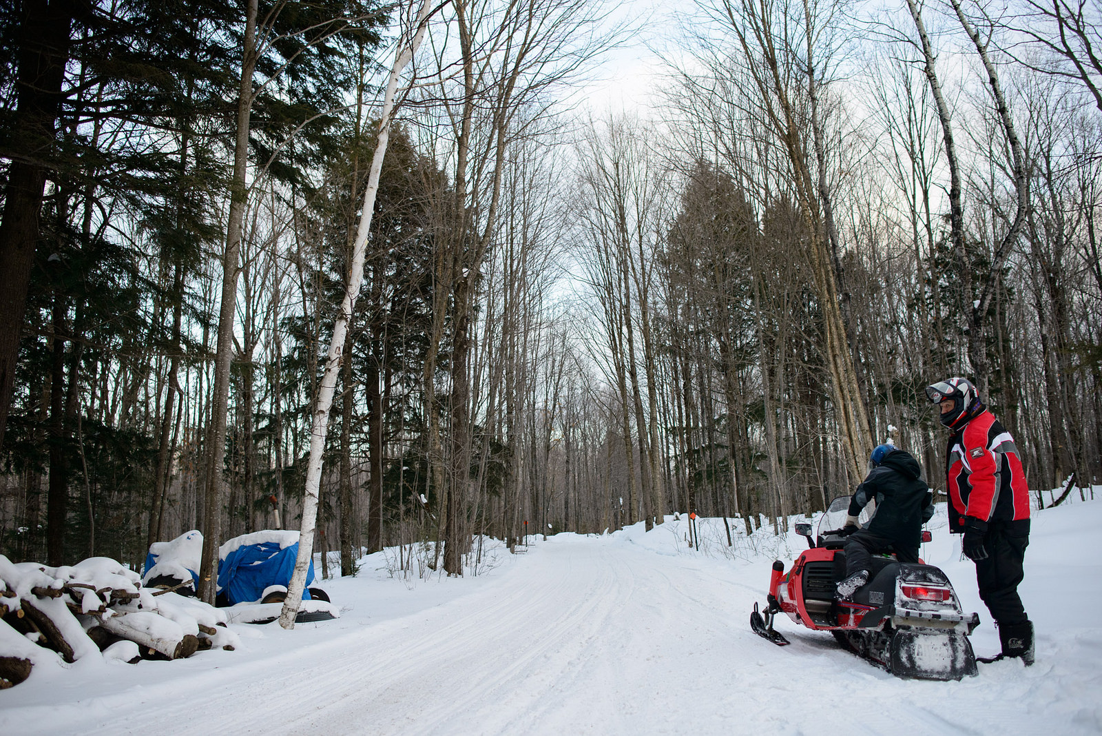 Three Lakes snowmobiling