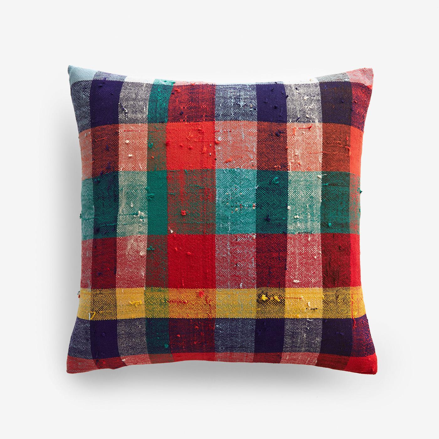 stuart plaid throw pillow cover 17 x 17