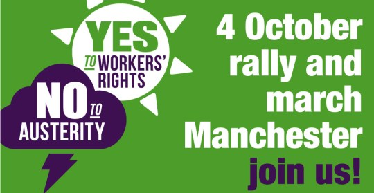 Oct 4 Rally and March at Tory Conference