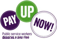 Pay Up Now! Campaign logo.