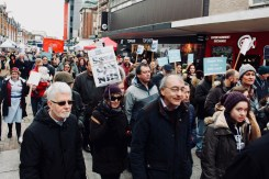 Photograph of Save Our NHS Southend campaigners marching up the High Street, Southend-on-Sea.
