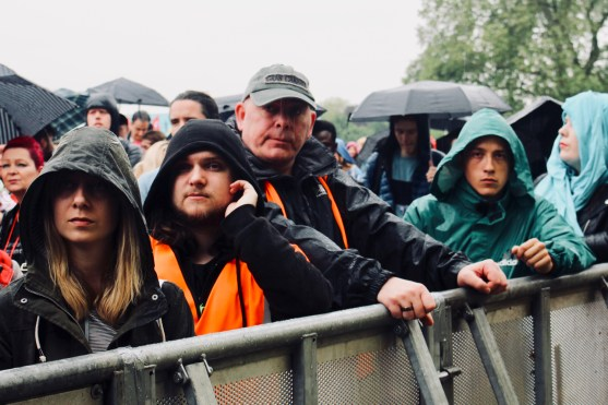 Photograph of trade unionists and supporters at TUC rally in Hyde Park, London. (12 May 2018)