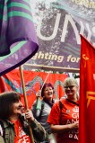 Photograph of Ray Lacey (Member, UNISON Southend-on-Sea) and Claire Wormald (Secretary, UNISON Southend-on-Sea) at TUC march and rally on 12 May 2018.