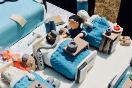 Detail of one of the magnificent birthday cakes presented to the Southend NHS staff at the 'Happy Birthday Southend NHS!' event on Thursday 5th July, 2018.