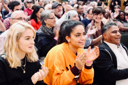 Photograph of attendees at STAND UP TO RACISM International Conference 2018.