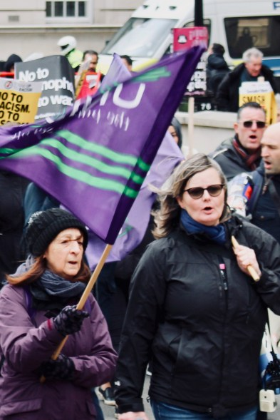 Photograph of Southend UNISON members and friends at the UN Anti-Racism Day Demonstration on Saturday 16th March 2019.