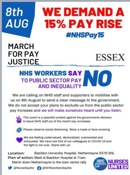 8th August NHS March Flyer