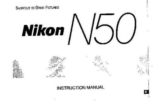 NIKON N50 Instruction Manual by download Mauritron #266076