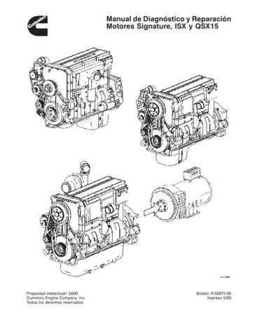 Cummins ISXy QSX15 Engine Service Manual in Italian by