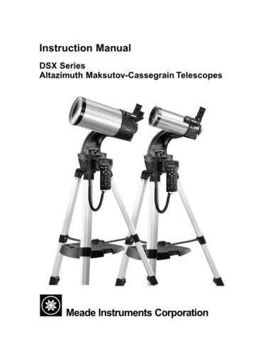 Meade 001DSXmanual Instruction Manual by download