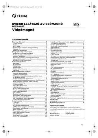 Funai DDVR-4800 H9513ED(HU) Service Schematics by download