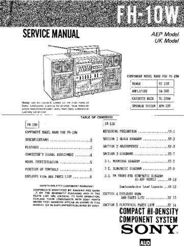 Sony FH-B510-MHC-510 Service Manual by download Mauritron