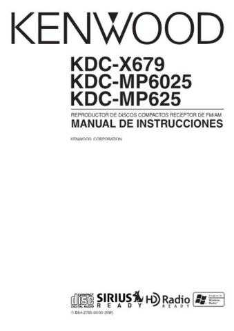 Kenwood KDC-X689 Operating Guide by download Mauritron