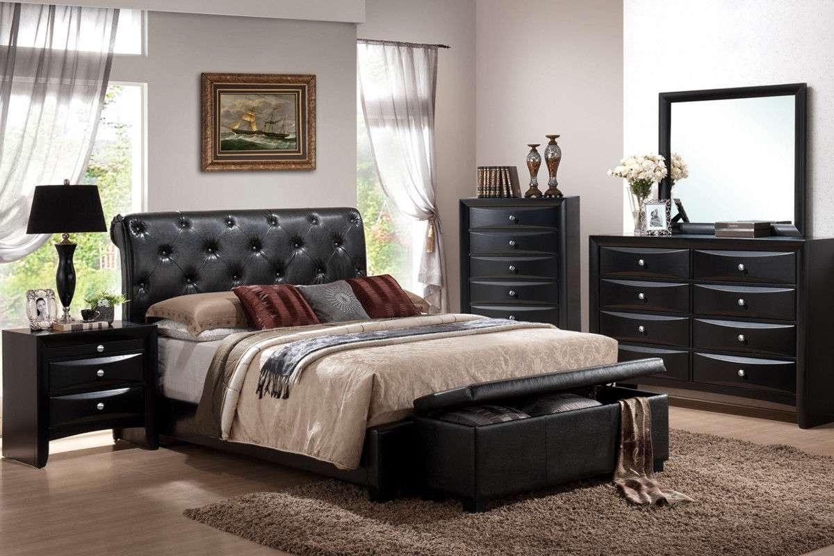 King Bedroom Set 7 Pc Memory Foam Mattress Include Cal