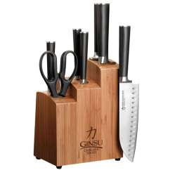 Kitchen Knife Sets For Sale Granite Countertops Ginsu 7108 Chikara 8 Piece Stainless Steel Set