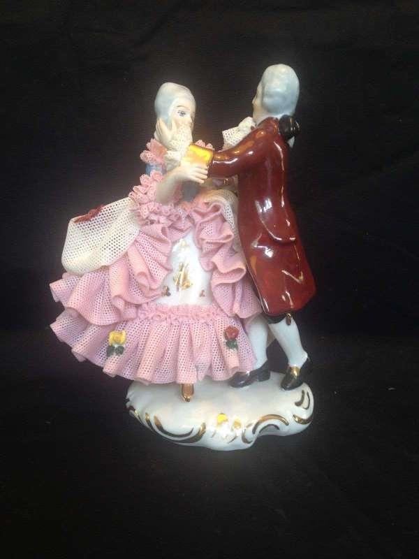 Antique Porcelain. Dresden Dancing Couple Auction