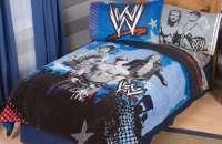 Twin/Full Super Soft Comforter Sports Bedroom WWE Blue ...