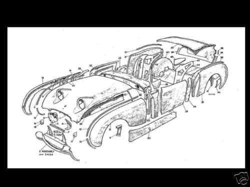 AUSTIN HEALEY BUGEYE Bug Eye SPRITE Diagram PARTS MANUAL