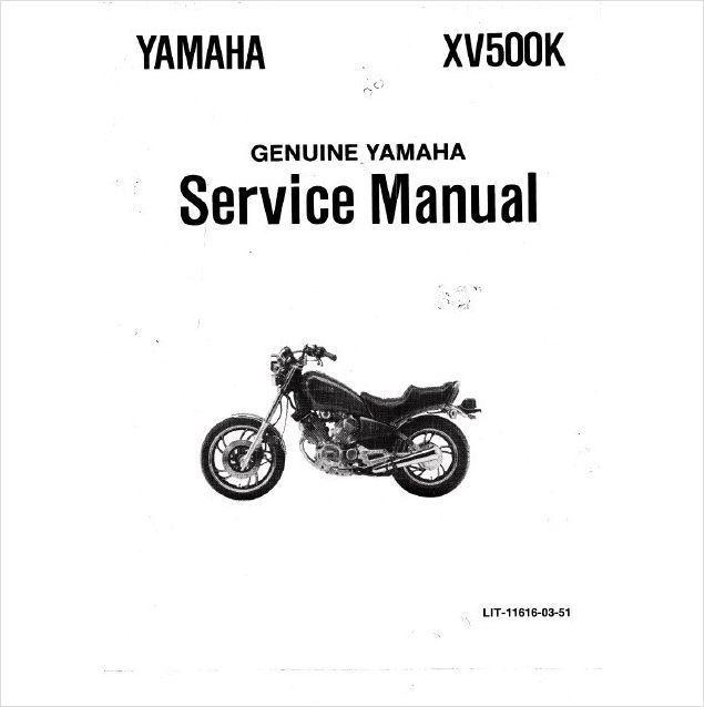 1983-1987 Yamaha Virago XV500 Service Repair Workshop