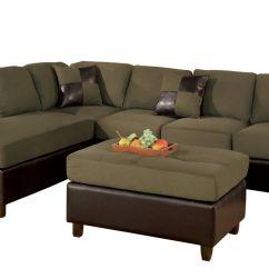 Sage Leather Sofa Average Size Of Sectional Sofas Bobkona Hungtinton Microfiber Faux 3 Piece