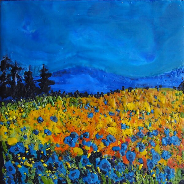 Meadow of Flowers by Ivy Wreden at wredentart.com