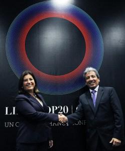 Presentación del logo oficial de la COP20. Vía Flickr.