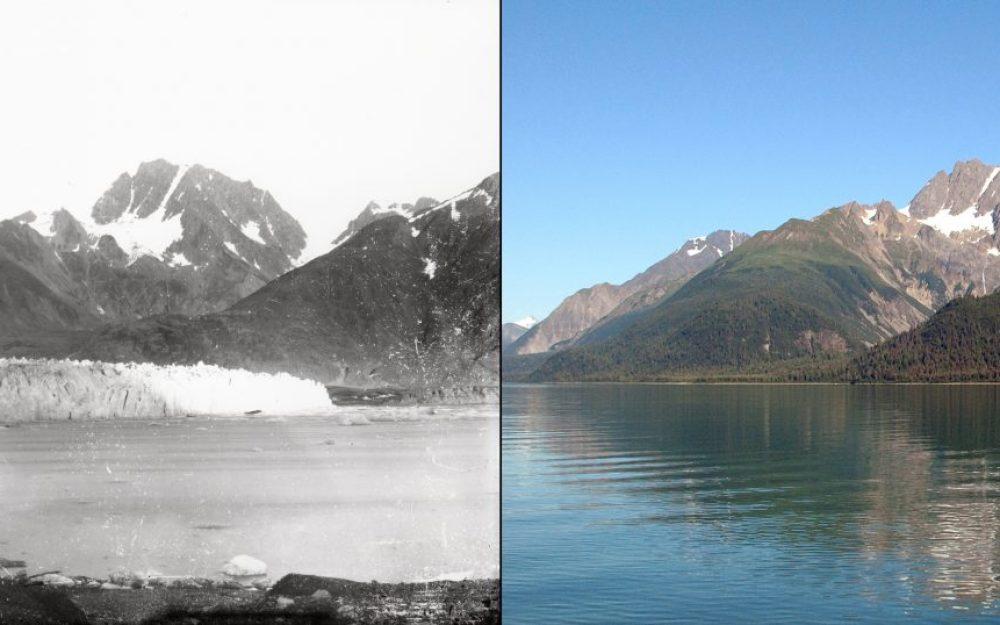 Derretimiento del glaciar Muir, Alaska (Septiembre 1892 – agosto 2005).
