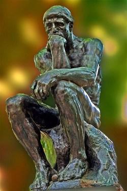 El Pensador de Rodin.