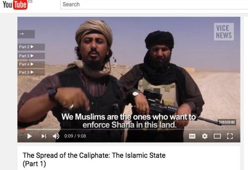 Un vídeo de Youtube del Estado Islámico [Foto: Youtube]