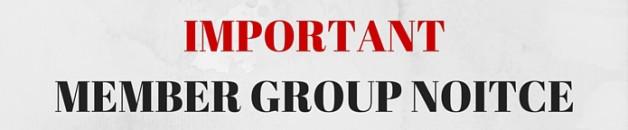 UPFJ MEMBER GROUP NOTICE