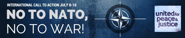 NO TO NATO BANNER