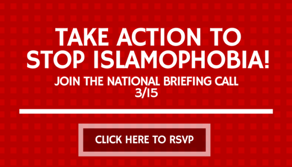 CONFRONTING ISLAMOPHOBIAWORKING RSVP BRIEFING CALL