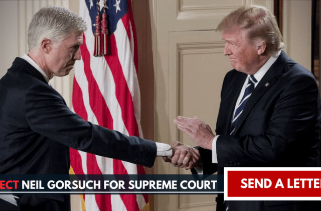 gorsuch petition supreme court oppose reject