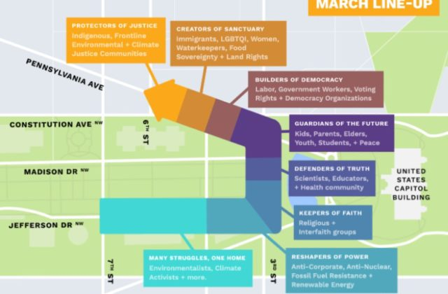 People's climate march map route