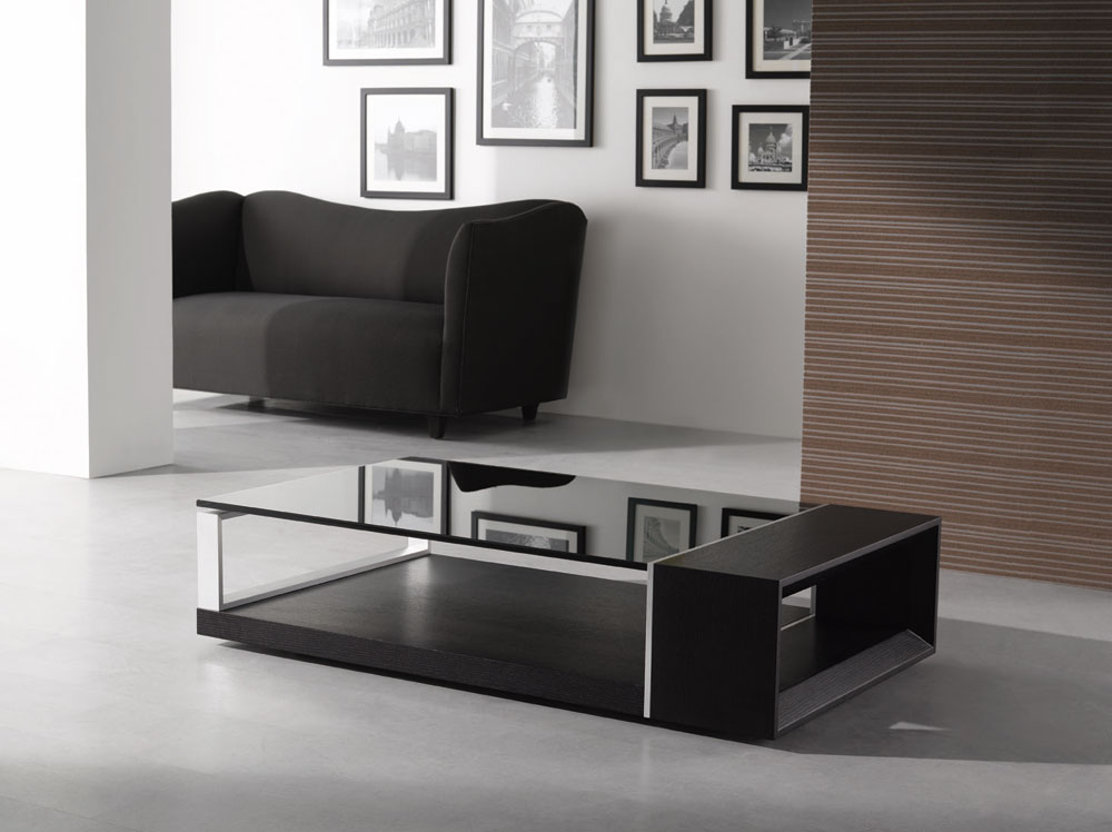 contemporary wenge oak wood coffee table 883