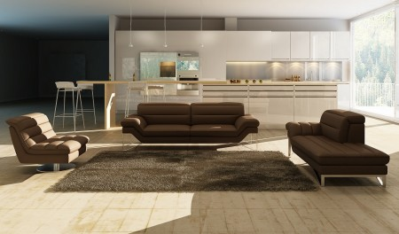 modern leather living room sets unique wall decor for astro set in chocolate brown jpg
