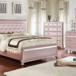 Avior Bedroom Set In Rose Pink Finish By Furniture Of America