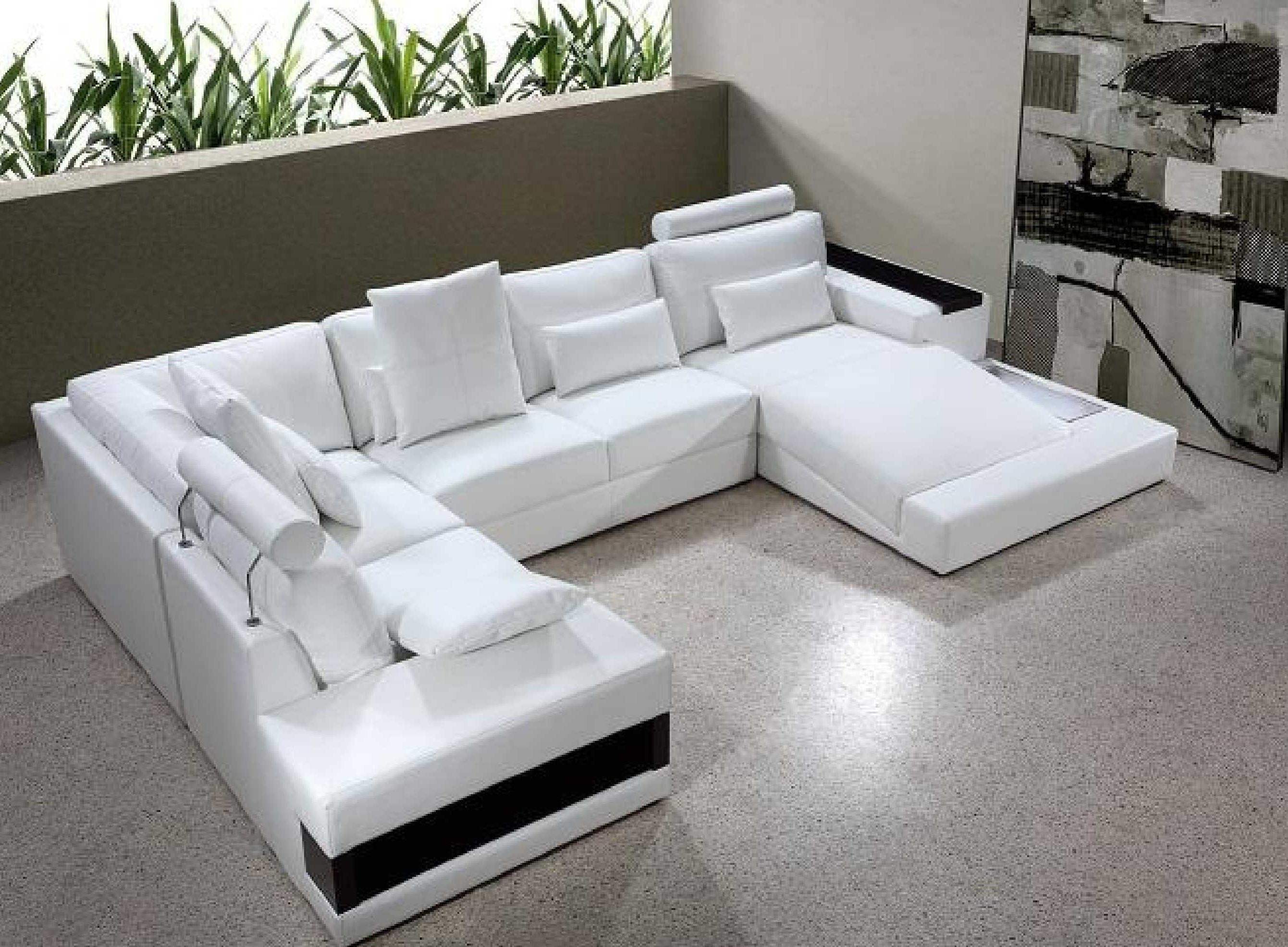 diamond modern white leather sectional sofa