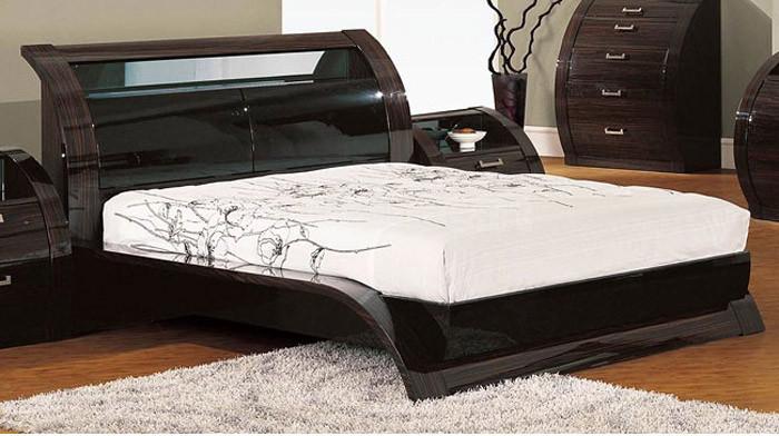 madison bedroom set in black zebrano
